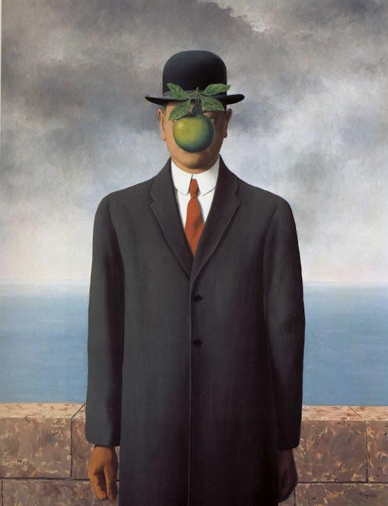 """René Magritte, """"Syn Człowieczy"""", olej na płótnie, 116 x 79 cm"""